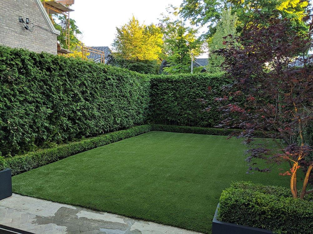 Backyard Artificial Grass Nicely Framed - Pro-Green