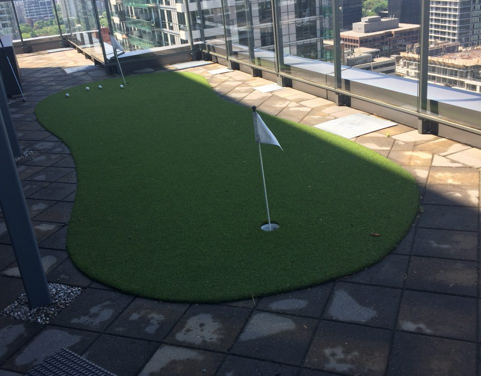 Make that condo balcony useful for practicing putting