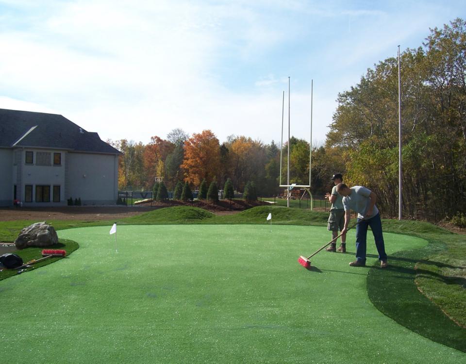 Golf football undulating mounding