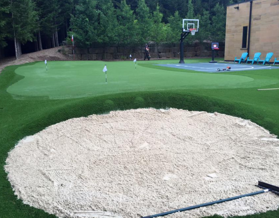 Ohio White sand trap built into slope