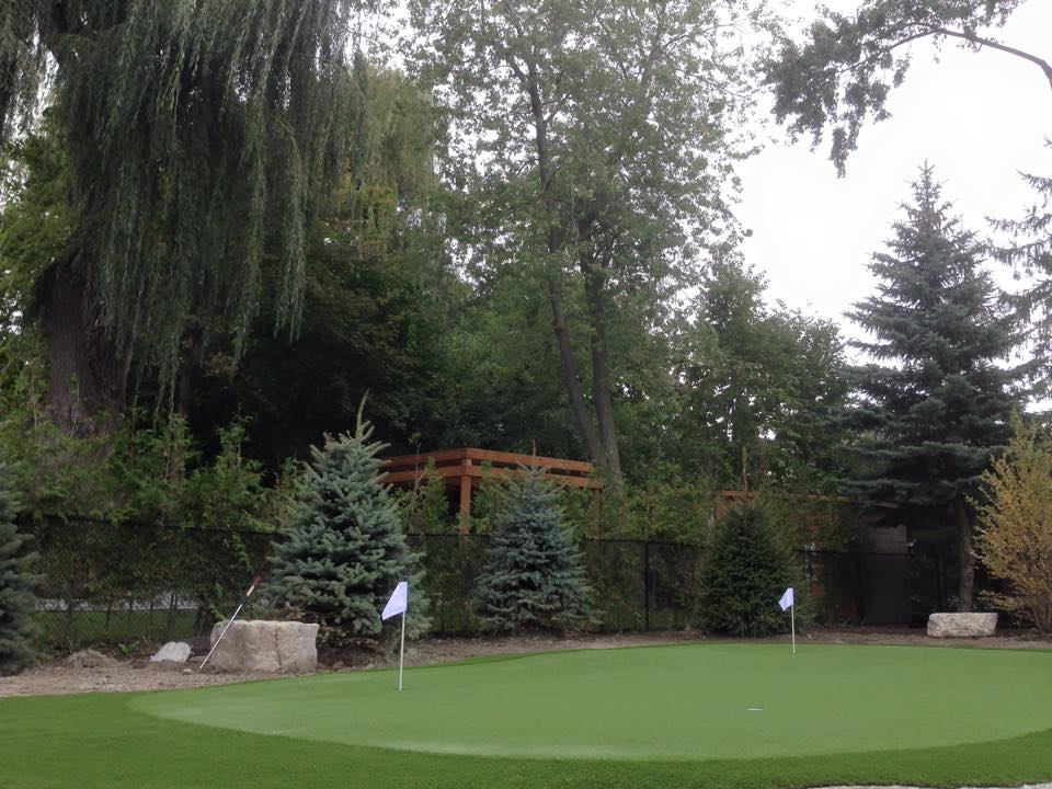 A beautiful setting for a 5-hole golf green