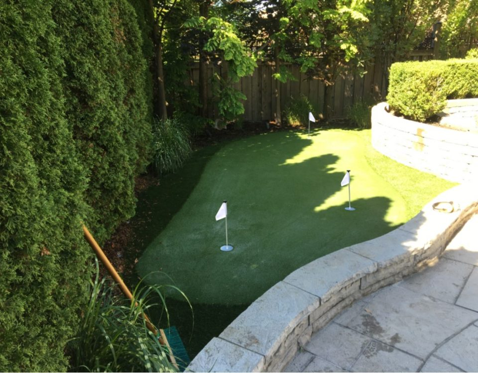 Designing a small space for the avid golfers use