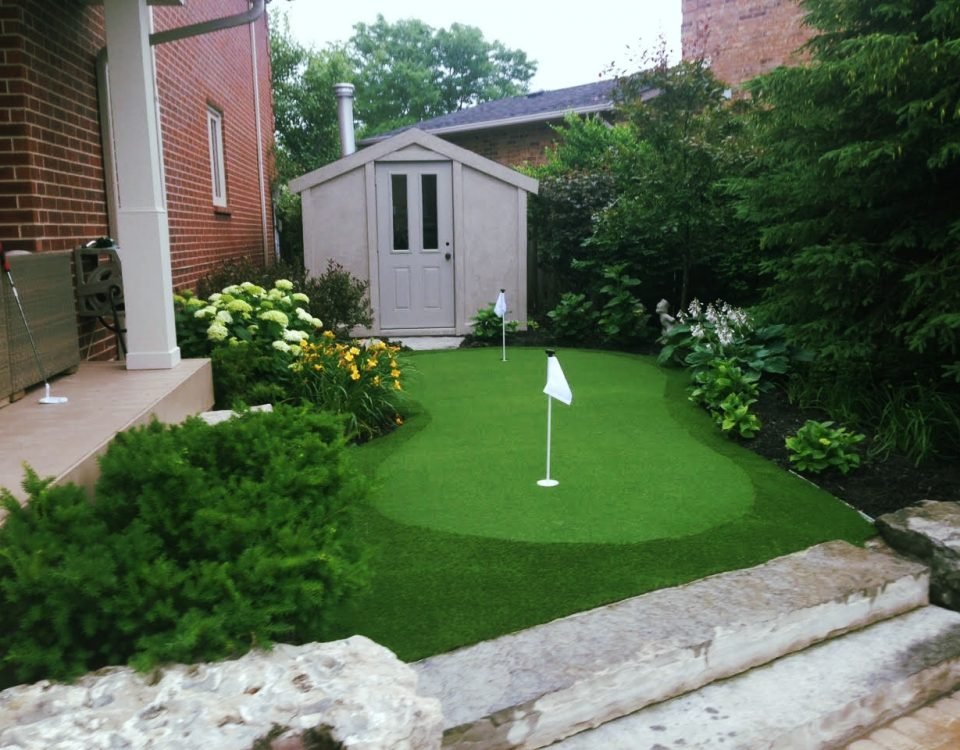 Good use of side of the house with golf green