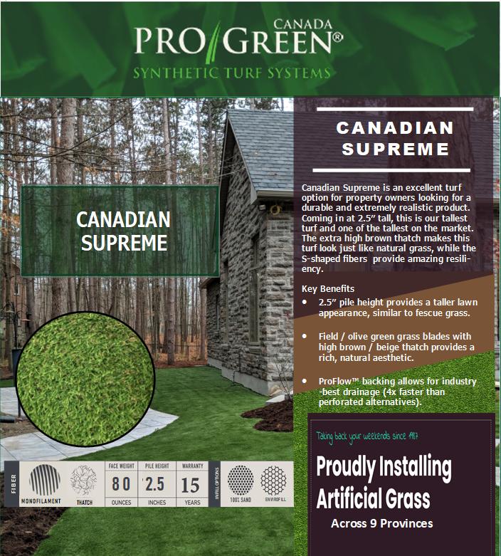 Canadian supreme website image ProGreen