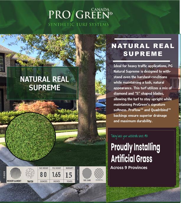 Natural Real Supreme ProGreen website image