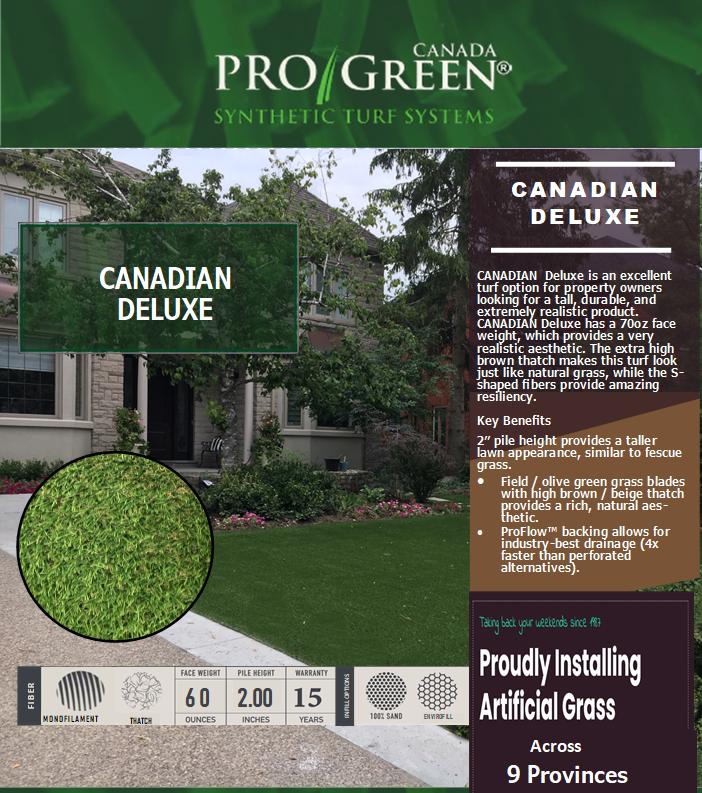 canadian deluxe website image ProGreen